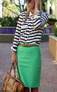 FabFashionFix - Fabulous Fashion Fix | Style Guide: How to wear stripes and chevron this fall?