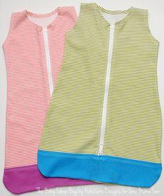 Sommer-Schlafsack für Kinder Babys nähen