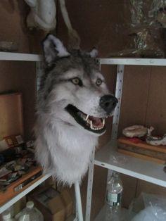 Wolf head mask wolf fursuit
