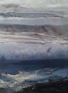 Sea Strata 1 - textile art. Laura Edgar www.lauraedgar.co.uk Textile Texture, Art Textile, Textile Artists, Creative Embroidery, Paper Embroidery, Creative Textiles, A Level Art, Fabric Art, Textures Patterns