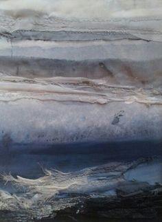 Sea Strata 1 - textile art. Laura Edgar www.lauraedgar.co.uk