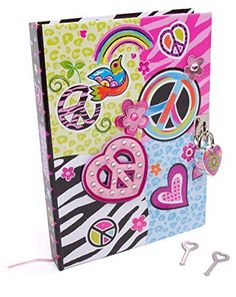 Hot Focus Peace Secret Diary with Lock – Journal Notebook with 300 Double Sided Lined Pages, Padlock and Two Keys for Kids Top Gifts For Boys, Cute Gifts, Best Gifts, Diary With Lock, Pink Pages, Diary Covers, Under Lock And Key, Girls Diary, Secret Diary