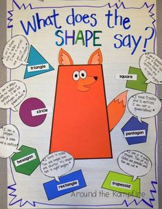 What Does The Shape Say? 2D & 3D shape activities & printables.