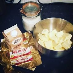 deserve_cakeAll ready to make my #swissmeringuebuttercream tonight :) yum yum butterbum! ;) #frenchbutter #cakes #matchmadeinheaven #tutorial