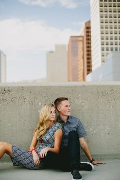 Kailey Rae Photography Utah Engagement Photographer Rooftop Engagement Session Rooftop Photoshoot City Engagement Downtown Engagement Couples Love  Utah Photographer