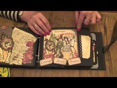 Beautiful Magic of Oz photo album tutorial #graphic45 #DIY #tutorial