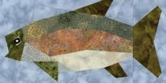 eQuiltPatterns.com: Rainbow Trout Quilt Block
