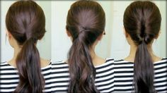 """""""3 Ponytail Hairstyles"""" from """"Good Ideas For You"""" -- Click through for a brief video on creating all three."""
