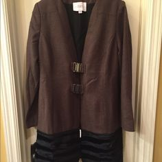 Eureka NWT jacket size S NWT lined jacket has a two buckle front closure and a removable faux fur detail around the bottom hem Size S tag attached no flaws Eureka Christos Garkinos Jackets & Coats
