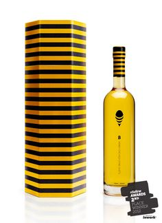 The Dieline Awards. Second Place Winner:  B Honey Cachaça. Entrant: Pereira & O'Dell