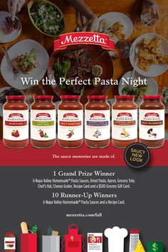 Win the Perfect Pasta Night from Mezzetta!