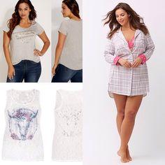 d8a57ee61efbf 2 Tops   1 Sleep Shirt Bundle Lace Top