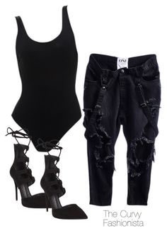 """""""Untitled #262"""" by thecurvyfashionista ❤ liked on Polyvore featuring Giuseppe Zanotti"""