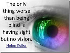 Sight vs. vision