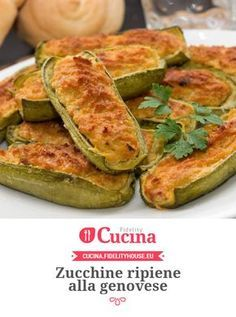 Ricetta Zucchine Ripiene Alla Genovese Fidelity Cucina Ricetta Zucchine Ripiene Ricette Zucchine
