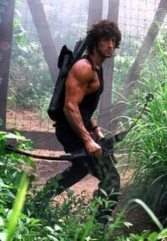 A gallery of Rambo: First Blood Part II publicity stills and other photos. Featuring Sylvester Stallone, Julia Nickson, Richard Crenna, Andy Wood and others. Action Movie Stars, Action Film, Action Movies, Rambo 2, John Rambo, Rock Balboa, Sylvester Stallone Rambo, Rocky Series, Stallone Rocky