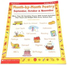 Scholastic Month By Month Poetry September October November Fall Grades Prek-2