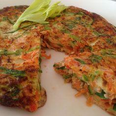 Tortilla de Apio, Zapallito, Zanahoria y Pimentón - BLOVVER