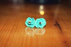 DIY Rose bud earrings