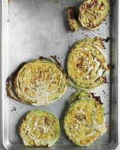 Roasted Cabbage Wedges | Martha Stewart - Super simple to make, this healthy side dish packs a crunchy, flavorful punch. #roastedsnacks #easysides