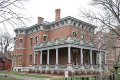 President Benjamin Harrison House, 1874 Indianapolis... Looks similar to the big home in Highland, IL.