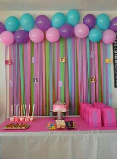 Decoration for a girl's birthday