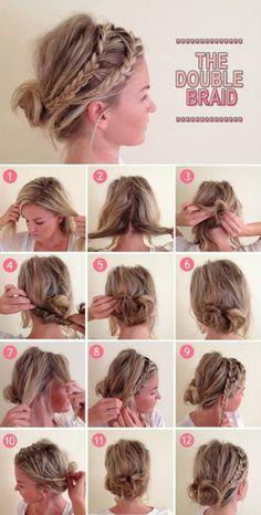 DIY Double braided look