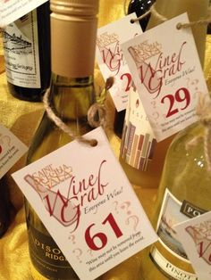 Love these tags for our wine pull this December