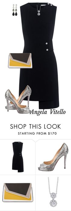 """""""Untitled #751"""" by angela-vitello on Polyvore featuring Finders Keepers, Christian Louboutin, âme moi, Forevermark and Oscar de la Renta #classyoutfits"""