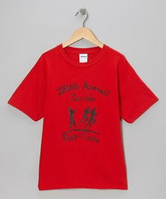 Take a look at this Red 'Zombie Run for the Cure' Tee - Kids & Adult by Crazy Dog on #zulily today!