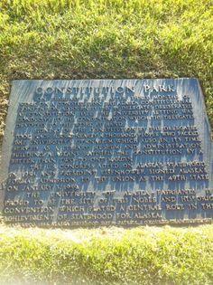 Constitution Park plaque