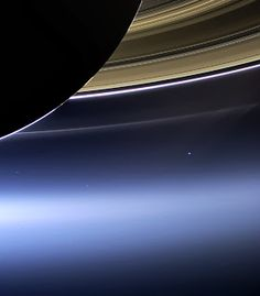 Cassini captured this rare look at Earth and its moon from Saturn orbit on July 19, 2013