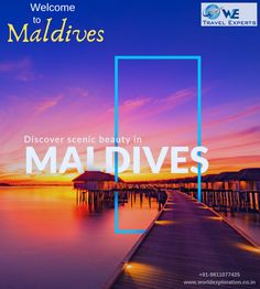 Explore Maldives holidays and discover the best time and places to visit. Unrivalled luxury, stunning white-sand beaches and an amazing underwater world make the Maldives an obvious choice for a true… Social Media Poster, Social Media Design, Travel Ads, Travel Posters, Maldives Tourism, Web Design, Flyer Design, Travel Brochure Design, Banner Design Inspiration