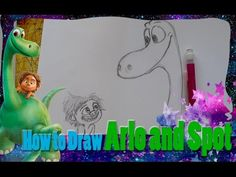 Enjoy this tutorial on Pixar's newest characters, Arlo and Spot, from. The Good Dinosaur, Cute Animal Drawings, Pixar, Kids Room, Room Ideas, Cute Animals, Good Things, Youtube, Crafts