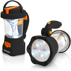 2x Ansmann LED linterna Action 5 viaje lámpara outdoorlampe azul rojo