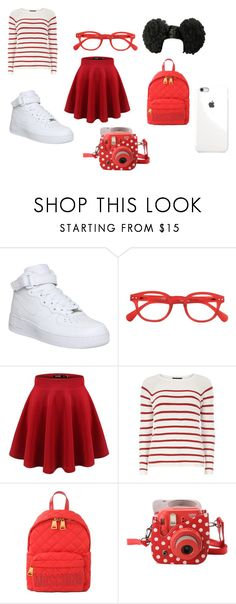 """""""Back-To-School #7"""" by lifeissweet170000 ❤ liked on Polyvore featuring NIKE, Dorothy Perkins, Moschino and Fujifilm"""