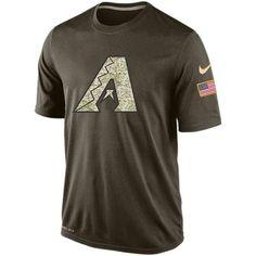 00c27d842 Men s Arizona Diamondbacks Salute To Service Nike Dri-FIT T-Shirt Dri Fit T