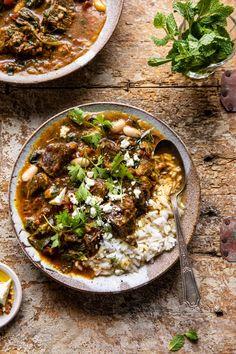 When you're craving a hearty but healthy dinner this Persian inspired Herb and Beef Stew with rice is perfect.made quick in the slowcooker or instant pot! beef stew Persian Inspired Herb and Beef Stew with Rice. Half Baked Harvest, Soups And Stews, Beef Stews, Cooker Recipes, Dinner Recipes, Dinner Ideas, Dessert Recipes, Quick Dessert, Simple Dessert