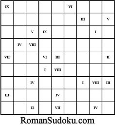 Roman Sudoku: Sudoku games played with Roman numerals. School Resources, Teacher Resources, Math Games, Maths, Secondary Math, School Themes, Roman Numerals, Aspergers, Asd