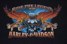Harley Davidson Bossier City LA T-Shirt Size Medium M Ride The Legend Excellent #HarleyDavidson #ShortSleeve