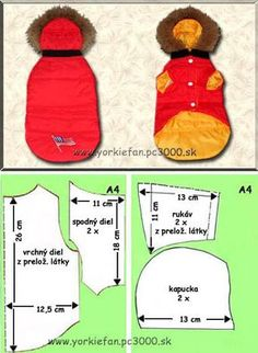 "Doggie ""puffer jacket"" with hood pattern free"