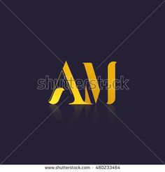 Letter AM that can be used as initial logo