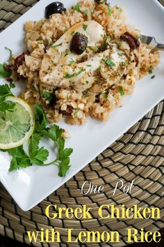 A Healthy Slice of Life | Delicious recipes, healthy living tips, and fun food facts Lemon Chicken, Healthy Chicken, Greek Chicken, Chicken Recipes, Chicken Ideas, Lemon Rice, Healthy Living Tips, Healthy Dinner Recipes, Delicious Recipes