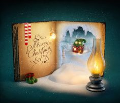 "Items similar to Christmas Blank Cards & Packs - Fantasy ""Christmas Fairytale ""Santa's Elves - Magical North Pole Freepost! Merry Christmas, Christmas Tale, Christmas Snowflakes, Christmas Books, Country Christmas, Christmas And New Year, Christmas Clipart, Christmas 2016, Christmas Ideas"