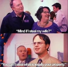 hahaha omg Dwight The Office Best Of The Office, The Office Show, Parks N Rec, Parks And Recreation, Us Office, Office Jokes, Michael Scott, How I Met Your Mother, Great Tv Shows