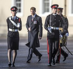December 15, 2017 Prince Harry inspects the graduating officer cadets at Sandhurst during the Sovereign's parade ceremony at Royal Military Academy Sandhurst in Camberley, England