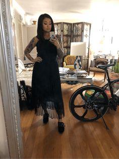 Pleated Elastic Waist Tulle Skirt   SHEIN USA Elastic Waist Skirt, Tulle Skirts, Black Mesh, Usa, U.s. States, Black Knit