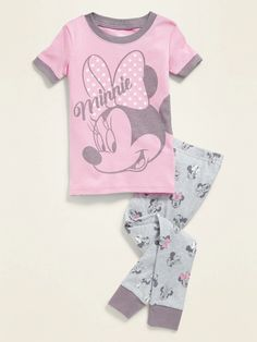 Disney© Minnie Mouse Pajama Set for Toddler Girls  Baby | Old Navy