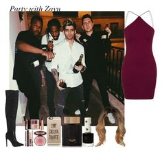 """""""Party with Zayn"""" by aasne-midtbo ❤ liked on Polyvore featuring Topshop, Oh My Love, Charlotte Tilbury, Casetify, Tom Ford, women's clothing, women, female, woman and misses"""