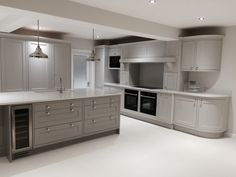 Shaker kitchen in combination of French grey Dark and Mid